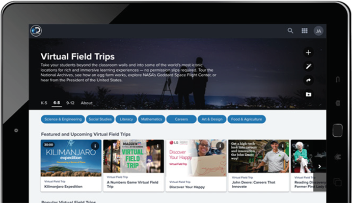 Discovery Education Personalized Content Experience