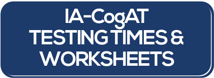 Testing Schedule Worksheets