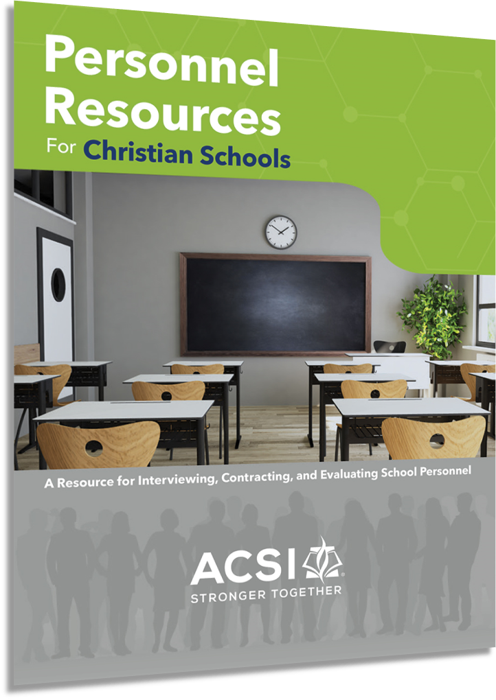 Personnel Resources for Christian Schools - Digital Downloads